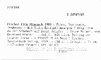 Fischer Film Almanach 1989