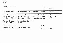 Poslání učitele a reformní pedagogika v Československu