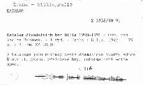 Katalog divadelních her Dilia 1990-1991