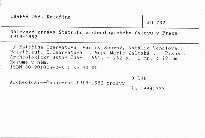 Nálezové zprávy Státního archeologického ústavu v Praze 1919-1952