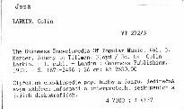 The Guinness Encyclopedia Of Popular Music                         (Vol. 3, Mercer, Johnny to Tillman, Floyd)