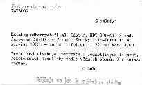 Katalog odborných filmů                         (Část A)