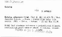 Katalog odborných filmů                         (Část B)