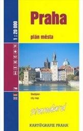 Praha, panorama - plán středu města
