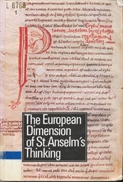 The European Dimension of St. Anselm's Thinking