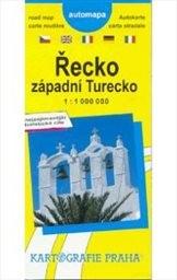 Řecko, západní Turecko - automapa