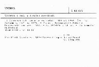 Výchova k péči o životní prostředí                         (Část 2, záznam č. 1571 až 3279)
