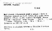 Malý slovník literárních pojmů a autorů
