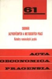 Sborník jazykovědných a metodických prací Katedry románských jazyků