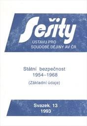 Státní bezpečnost 1954-1968
