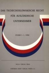 Das tschechoslowakische Recht für ausländische Unternehmer