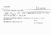 Archivum mathematicum                         (Tomus 27a)