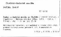 Dudáci a dudácká muzika na Chodsku; Dudáci a dudácká muzika na Chodsku.