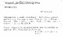 Informazioni e studi vivaldiani                         (15)