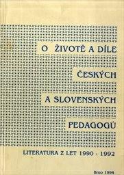 O životě a díle českých a slovenských pedagogů