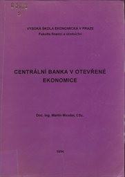 Centrální banka v otevřené ekonomice