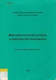 Makroekonomická analýza a mezinárodní komparace