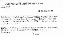 Jubilejní výroční zpráva Konzervatoře v Brně 1993-1994