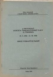 Z protokolů schůzí 8. československé vlády (2. Černého)