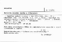 Bulletin ruského jazyka a literatury                         ([Sv.] 32)