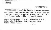 Sborník prací filozofické fakulty brněnské univerzity                         (Roč. 39-40. Řada hudebněvědná (H), č.25-26, 1990-1991)