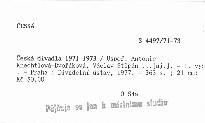 Česká divadla 1971-1973