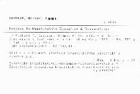 Preface to Quantitative Economics & Econometrics