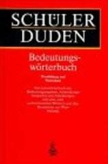 Schülerduden Bedeutungswörterbuch