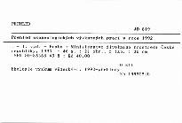 Přehled ekogeologických výzkumných prací v roce 1992