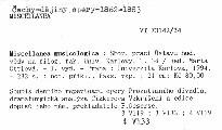 Miscellanea musicologica                         (T. 34)