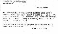 43. mezinárodní hudební soutěž Pražské jaro 1991