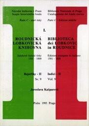 Roudnická lobkovická knihovna                         (Sv. 9)