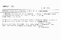 Duševní a sociální hygiena v díle J. A. Komenského