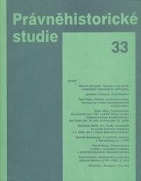 Právněhistorické studie