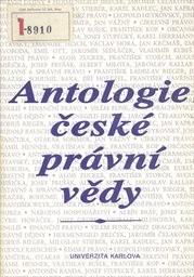 Antologie české právní vědy