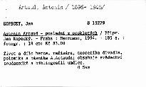 Antonin Artaud - poslední z prokletých