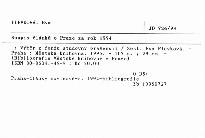 Soupis článků o Praze za rok 1994