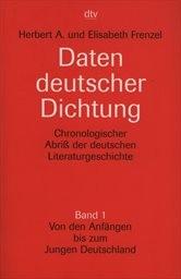 Daten deutscher Dichtung                         (Bd. 1)