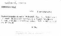 Československá divadla 1965-1967                         (Část 1)