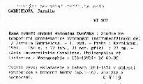 Rané tvůrčí období Antonína Dvořáka