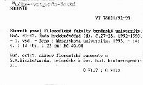 Sborník prací filozofické fakulty brněnské univerzity                         (Roč. 41-42)