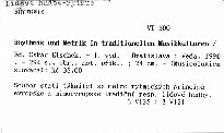 Rhythmik und Metrik in traditionellen Musikkulturen