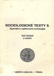 Sociologické texty                         (Díl 2)