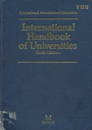 International Handbook of Universities and Other Institutions of Higher Education