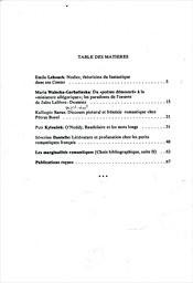 Cahiers du Centre d'Études de Tendances Marginales dans le Romantisme Francais                         (Numéro 3, 1993)