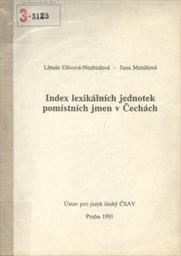 Index lexikálních jednotek pomístních jmen v Čechách