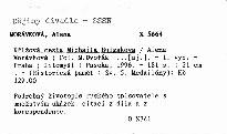 Křížová cesta Michaila Bulgakova