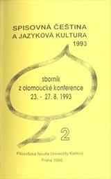 Spisovná čeština a jazyková kultura 1993                         ([Díl] 2)