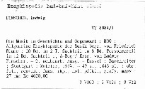 Die Musik in Geschichte und Gegenwart                         (Sachteil 1, A-Bog)