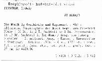 Die Musik in Geschichte und Gegenwart                         (Sachteil 3, Eng-Hamb)